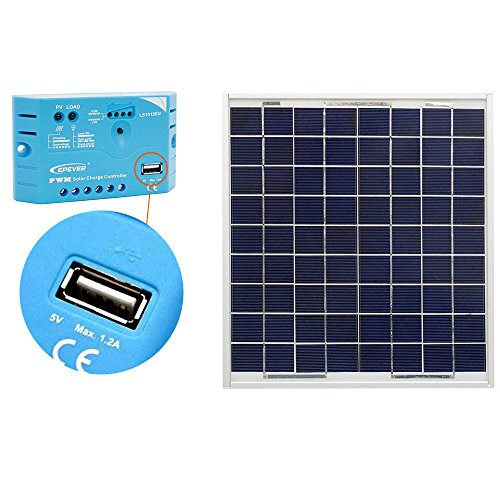15 Watt Solar Panel Battery Charger - 6