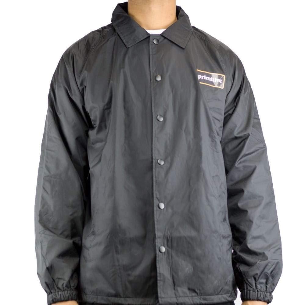 Primitive GFL Coach Black Screenprinted Windbreaker Men's Jacket (XX-Large)