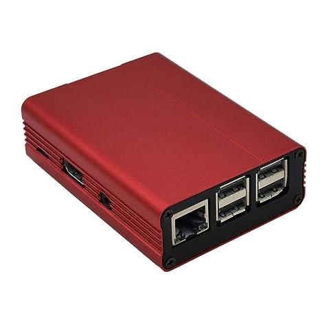 XZANTE Estuche de Aleación de Aluminio para Raspberry Pi 3 B ...