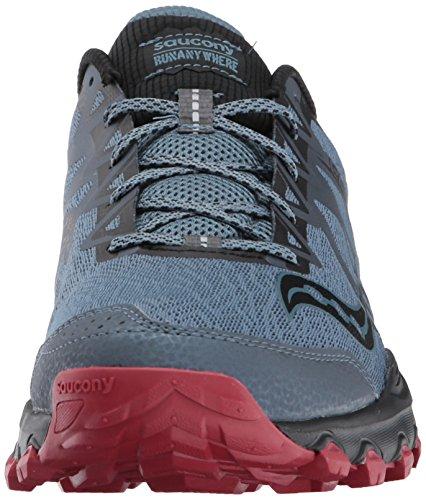 Saucony Hombres Grid Calibre Tr Trail Runner Gris Rojo