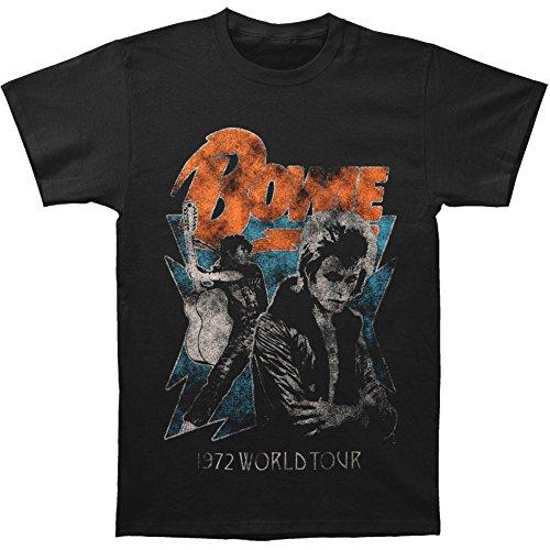 David Bowie Men's 1972 World Tour T-shirt Small Black