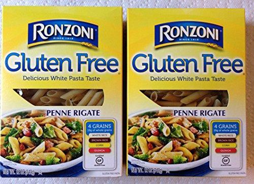 Delicious Gluten Free Ronzoni Penne Rigate 2-Pack - Great White Pasta Taste 12 oz boxes