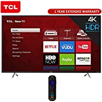 TCL 55-Inch 4K Ultra HD Roku Smart LED TV 2017 Model (55S405) + 1 Year Extended Warranty