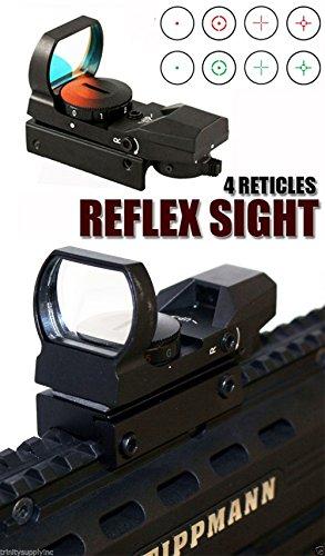 Rail Custom Sight Adjustable 98 (Red Green Dot Scope Sight With Mount Fits Tippmann 98 Custom)