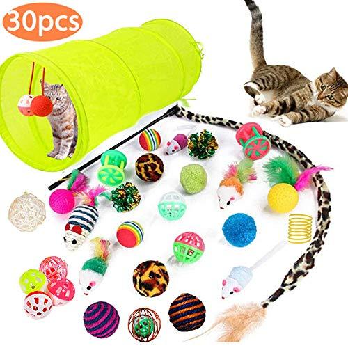 🥇 MEISHANG Juguetes Gatos Pack
