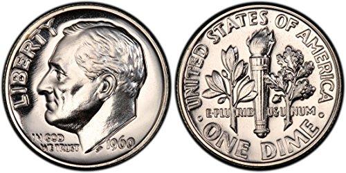 1960 PROOF Roosevelt Silver Dime GEM PROOF US Mint