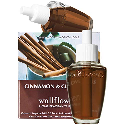 Bath & Body Works Cinnamon and Clove Buds Wallflowers - Slatkin & Co. Home Fragrance Diffuser Refills - 2 bulbs