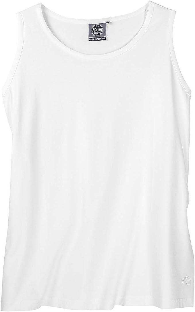 Ahorn XXL Camiseta blanca sin mangas: Amazon.es: Ropa y accesorios