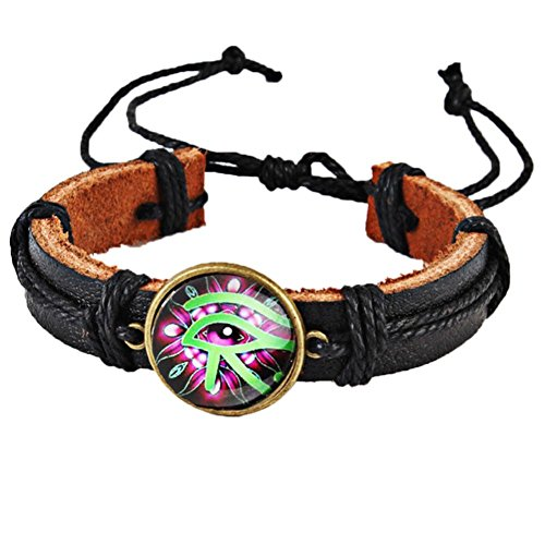Botrong Fashion Neutral Eye Braid Band Hemp Rope Bracelet (E) -