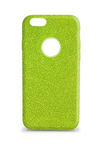 KSIX Flex Cosmos–Case TPU für Apple iPhone 6und Apple iPhone 6S, Glitzer Farbe Grün