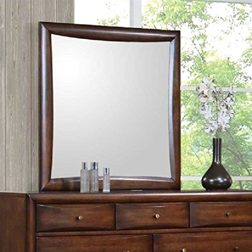 Coaster Home Furnishings 200644 Casual Contemporary Mirror, (Walnut Country Dresser)