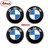 4PCS Wheel Center Caps Emblem Fit BMW, 68mm Emblem Logo Replacement for All Models BMW's Wheels Hub Caps Blue White Color