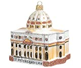 Pinnacle Peak Trading Company St Peters Basilica Glass Christmas Ornament Vatican Catholic Church Decoration