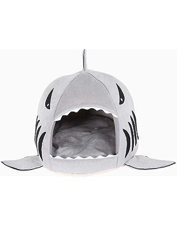 Beito Casa Almohadas Gato de Interior Perro colchón de la Cama en Forma de un tiburón