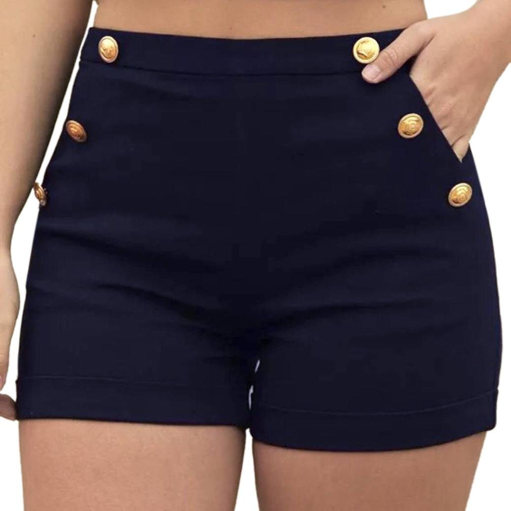 Black Shorts for Women Jamicy Summer Plus Size Zipper Elastic Band High Waisted Casual Hot Pants Shorts Trouser