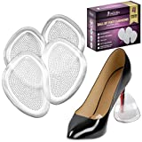 Shoe Inserts Women Ball of Foot Cushions Metatarsal Pads for High Heels (2 Pairs: 4 pcs) (Clear)