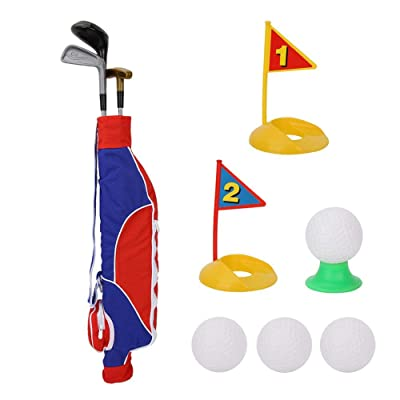 Children Golf Toy Set, Kids Childrens Junior Golf Toy Set with ortable Bag,Indoor Outdoor Golfer Game for Backyard, Beach, or Park: Electronics