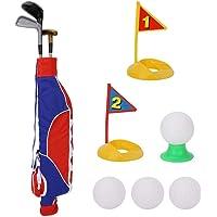 Tosuny Juego de Juguetes de Golf para niños, Juego de Juguetes de Golf para niños para niños con Bolsa de Juego, Juego de Golf Interior para Patio Trasero, Playa o Parque