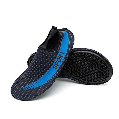Femmes de Water Eagsouni Léger de Rapide Hommes Slip Antidérapant On Aqua Séchage Chaussures Plage Respirant Shoes Sport Nautique Bleu Plongée Chaussures Unisex Ftw5qfw
