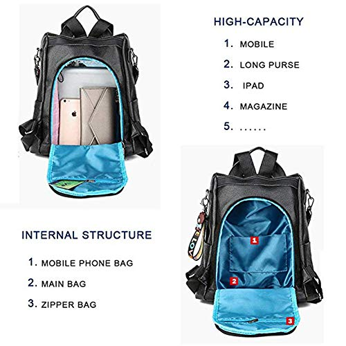 Bag Purse White Detachable Backpack Shoulder Casual theft Anti Travel Women Waterproof aHUBRnnq