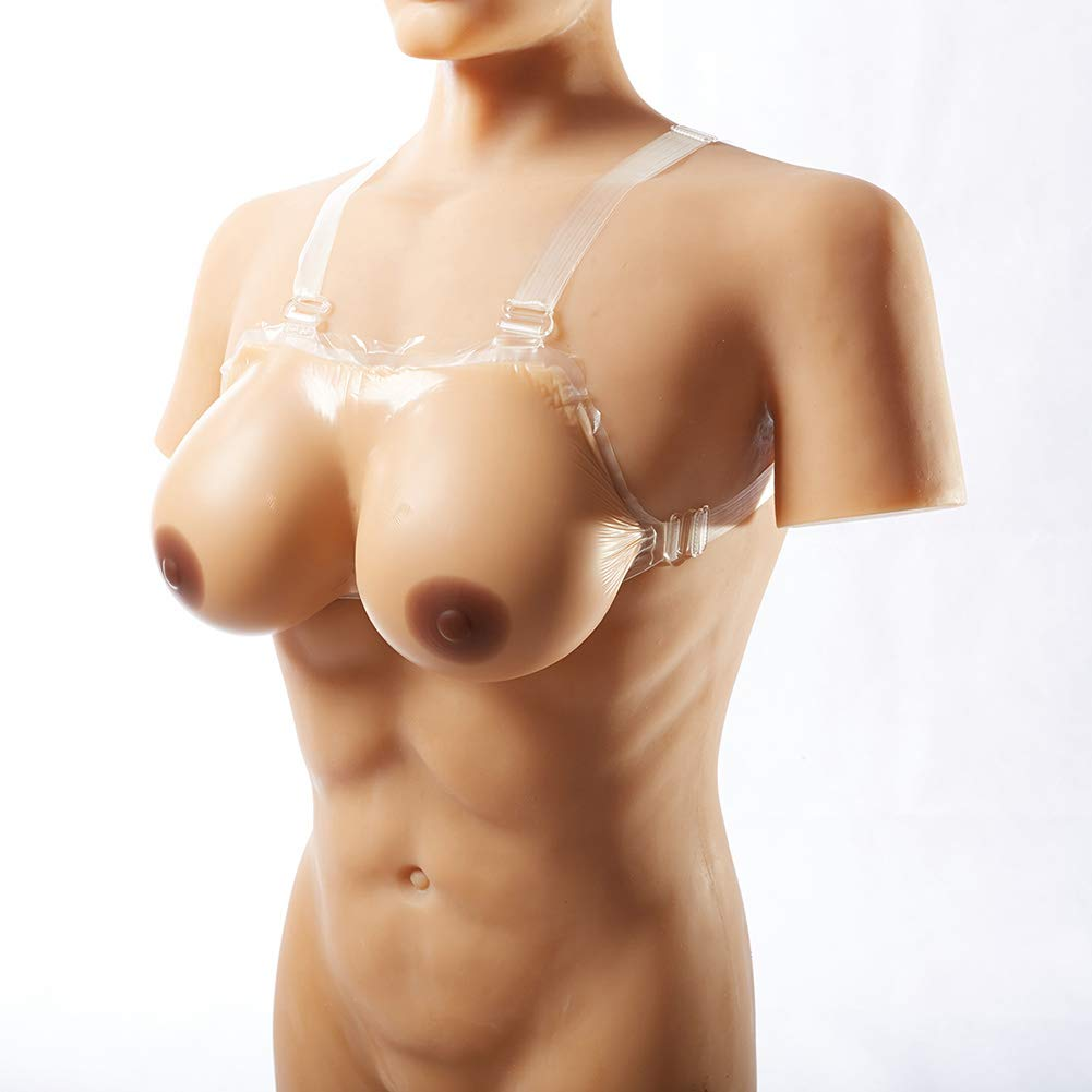 Silicone Breast Forms Strap-on Fake Boobs Lifelike for Mastectomy Crossdresser Transgender Bra,2,S/CupA/Pair/8.1 * 1.8 * 1.8inch