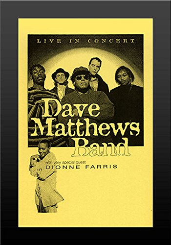 - 11x17 FRAMED Poster Print Dave Matthews Band Live in Concert with Guest Dionne Farris '95