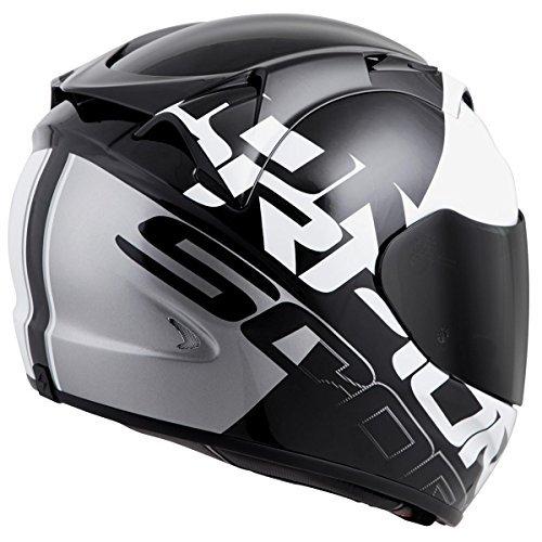 Scorpion EXO-T1200 Quattro Street Motorcycle Helmet (White/Silver, Small)