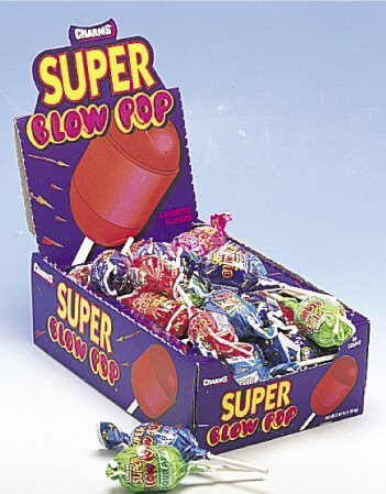 Charms Super Blow Pop Assorted- 48 (Assorted Pop)