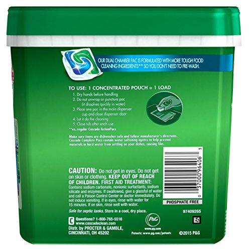 Cascade Complete Actionpacs Dishwasher Detergent, Fresh, 77 Count -Old version