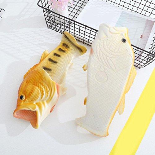 erthome Creative Unisex Fish Shower Slippers Flip Flops Beach Shoes Sandals UK Size 3-7.5 Yellow wsqwVWovEc