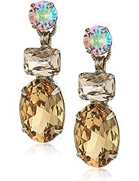 Mahogany Multi-Cut Crystal Drop Earrings