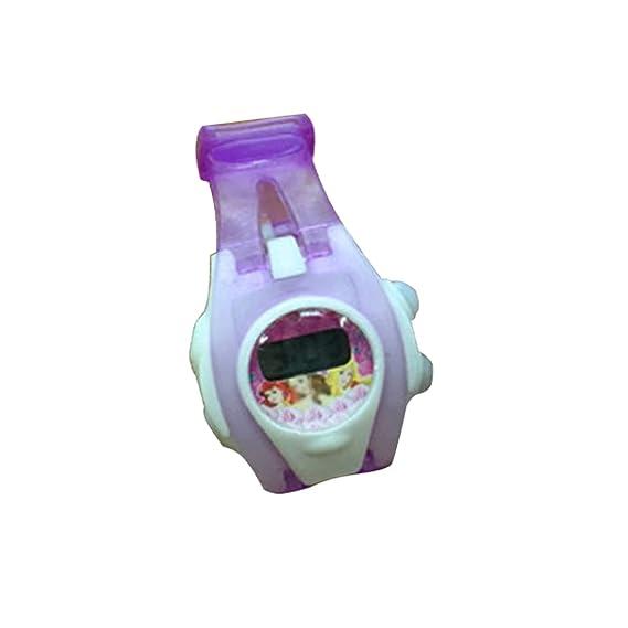 Niños Relojes LED Digital electrónico reloj de pulsera (morado)