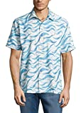 Tommy Bahama Island Zone Retsina Waves Silk Blend Camp Shirt (Color: Graceful Sea, Size L)