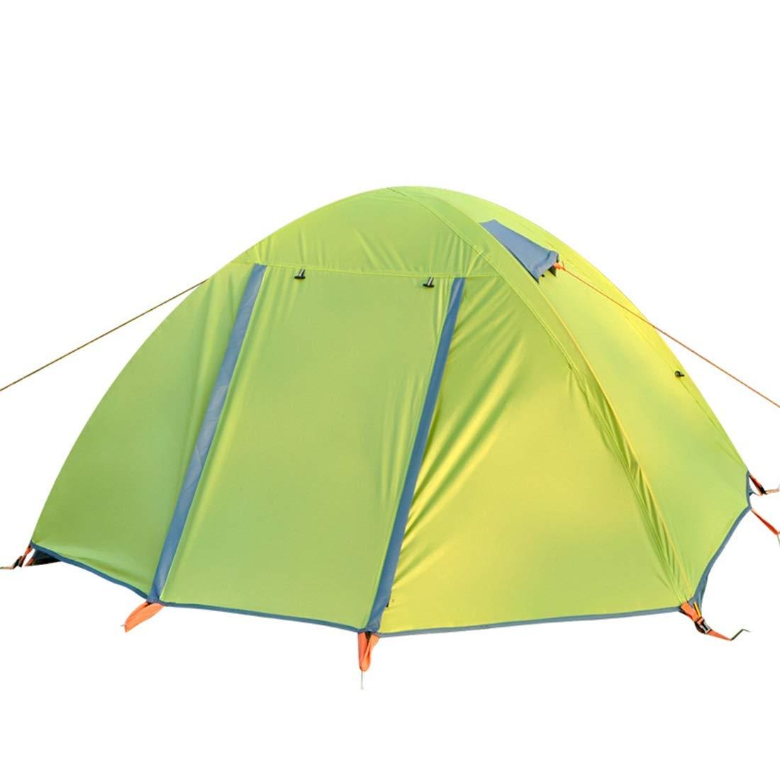HAOERHOME 2-Personen-Zelt für wildes Abenteuer-Camping im Freien (Farbe : Grün)