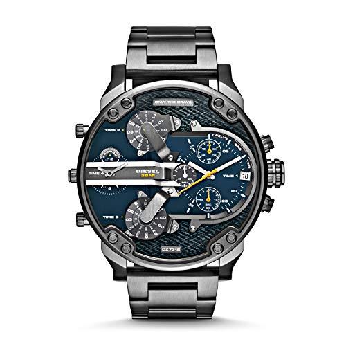 (Diesel Men's DZ7331 Mr Daddy 2.0 Gunmetal-Tone Stainless Steel Watch)