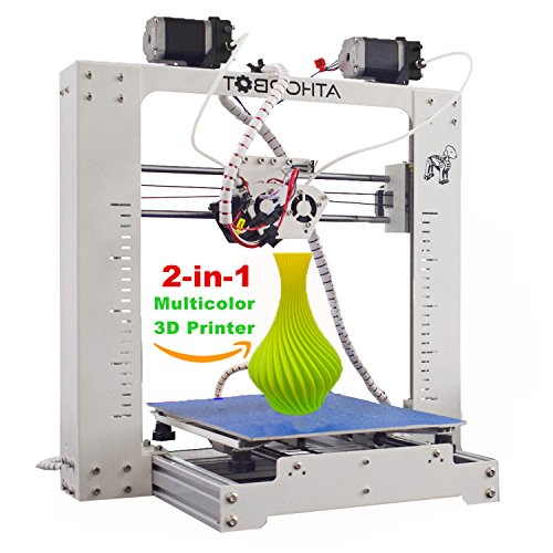3D Printer, Athorbot 2 in 1 Dual Extruder Prusa i3 Large size 270 x 200 x 170mm, Print Single / Dual / Mixed / Graded Color, Better Than Other CR-10 / 10s