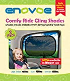 Large Car Sun Shade (2 Pack) for SUVs, MiniVans and Full-Size Sedans - Premium Baby Car Window Shades are best for blocking over 97% of Harmful UV Rays - LIFETIME WARRANTY
