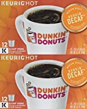 Dunkin' Donuts Hot Bevrage K-Cups (Dunkin' Decaf, Two Boxes (24 Pods)