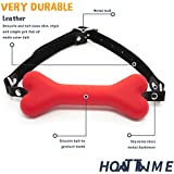 HOT TIME Sex Adult Bondage Silicone Dog Bone Gag Red Ball Restraints Straps for Couple Role Play Kit