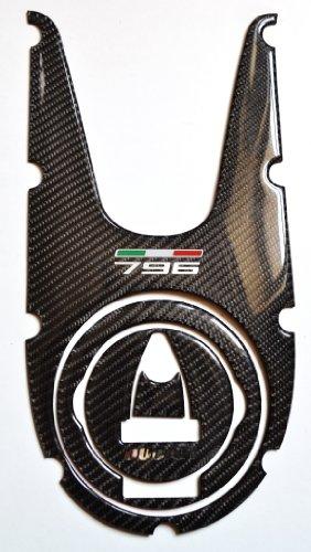 Ducati Monster 796 Real Carbon fiber TANK DASH COVER PANEL Trim Sticker pad Pad Protector decal (Real Carbon Fiber Dash Trim)