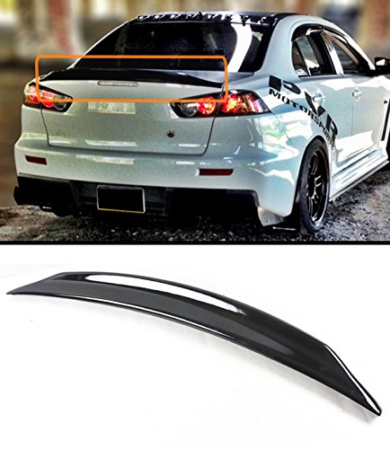 For 2008-2017 Mitsubishi Lancer EVO X 10 MR GTS Duckbill Highkick Gloss Black Trunk Lid Spoiler Wing (Gts Lancer)