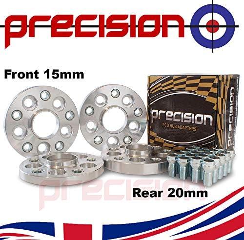 Precision Staggered Hub Adapters 15mm//20mm 5x100 Hub to 5x112 Wheel for Śeat Ibiza Part No 2AD01+2AD03+20SB01121