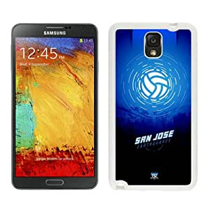 Fashionable And Antiskid Designed MLS san jose earthquakes Samsung Galaxy Note 3 N900A N900V N900P N900T Case Cover 12 White