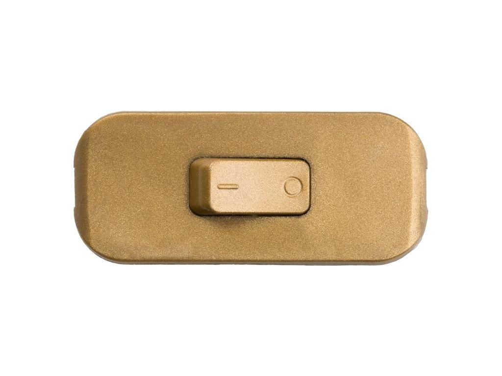 legrand 040193E Interruptor Estrecho de Paso para Lámpara, 250 V, Oro