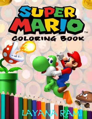 Super Mario Coloring Book: A great coloring book on the Super Mario characters. Great starter book for young children aged 3+. An A4 51 page book for any avid fan of Super Mario.