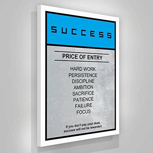 Success Motivation Canvas Print Hustle Price Wall Office Decor Modern Art Boardwalk Inspiration Decoration Motivational Inspire Entrepreneur Quote Inspirational (24