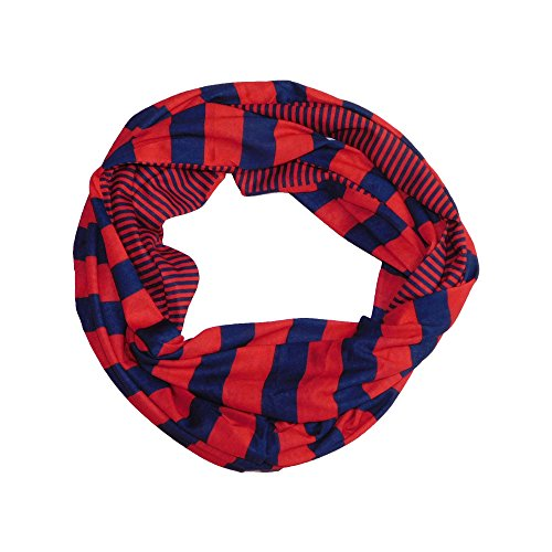Houston Texans Jersey Scarf - Tickled Pink Women's Game Day Sports Team Apparel Scarf or Wrap, Stripes Infinity Circle/10x31