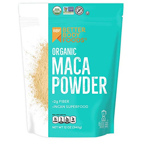 LIVfit Superfood Organic Maca, Non-GMO & Gluten-Free, 12 Ounce (Chia Seeds Peruvian)