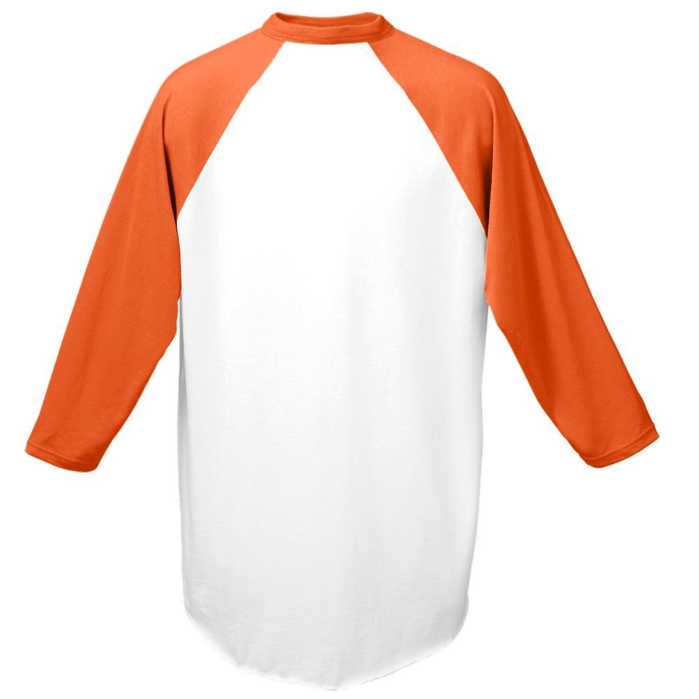 Augusta Sportswear Men's Baseball Jersey, White/Orange, 3X-Large by Augusta Sportswear