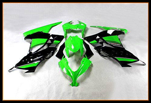 - Protek Painted ABS Plastic Injection Mold Full Fairings Set Bodywork Cowl for 2013 2014 2015 2016 2017 Kawasaki Ninja 300 EX300 EX300A EX300B Green Black